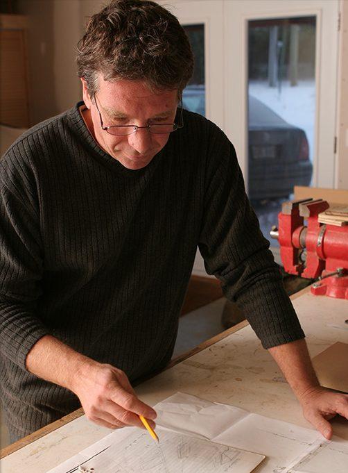 Pierre Leloup au travail