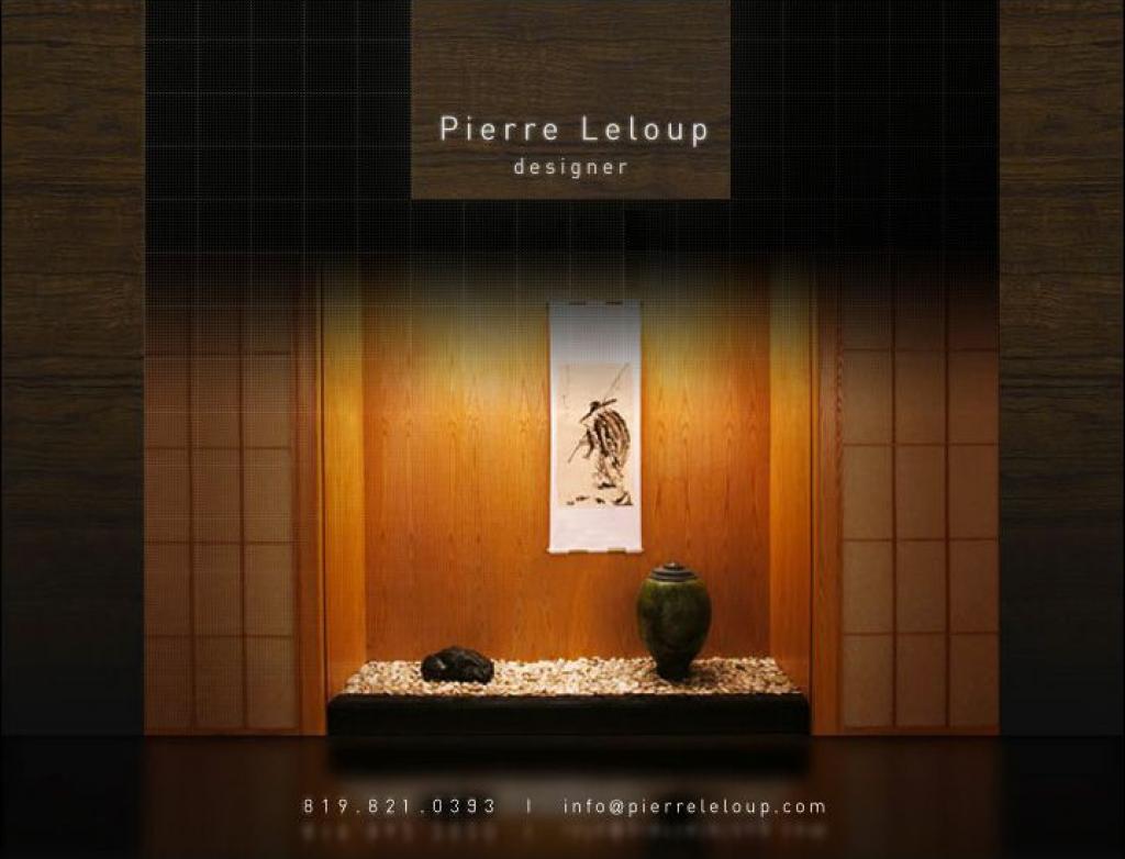 Accueil - Pierre Leloup | Designer minimaliste et zen
